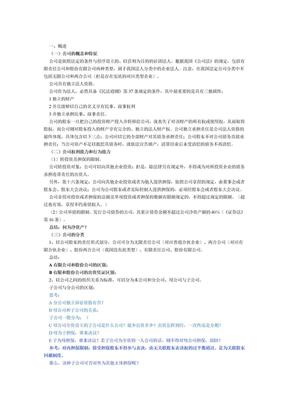 中法网法条精讲教室张海峡商法讲义.doc