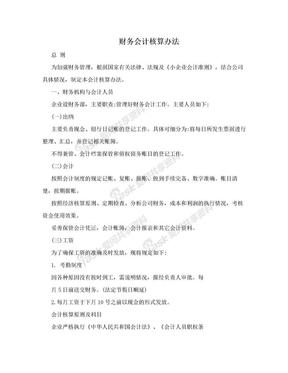 财务会计核算办法.doc