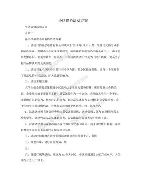 小区促销活动方案.doc