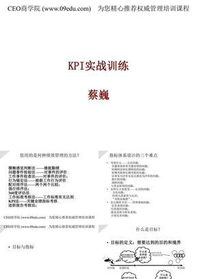 KPI实战训练--KPI与企业文化.ppt
