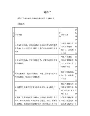 建筑工程绿色施工管理现场诚信评价评分核定表.doc