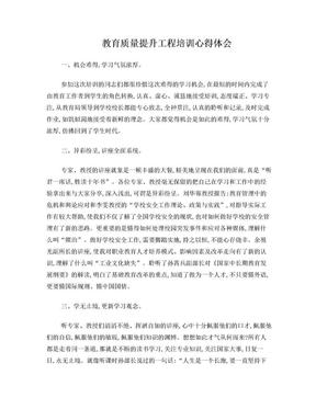 教育质量提升工程培训心得体会.doc