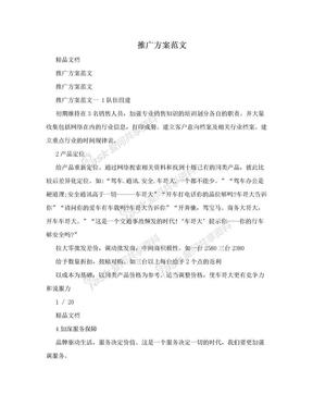 推广方案范文.doc