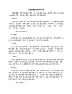 工作总结格式要求及范文.docx
