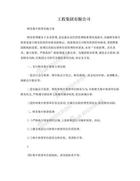 工程集团有限公司财务集中核算实施方案.doc