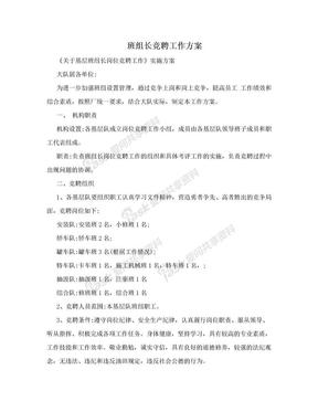 班组长竞聘工作方案.doc