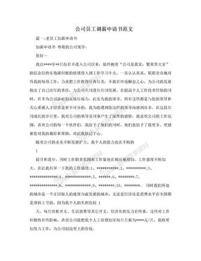 公司员工调薪申请书范文.doc