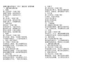 北师大版小学语文一至十二册古诗_分类归纳.docx