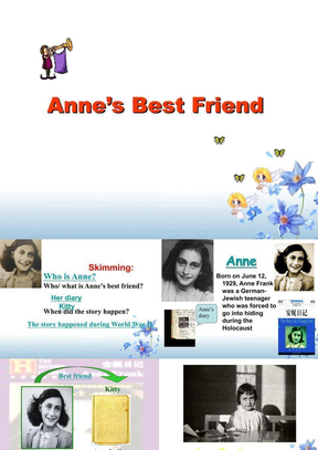 人教版高一英语必修1《unit_1_Anne's_Best_Friend》PPT课件[1].ppt