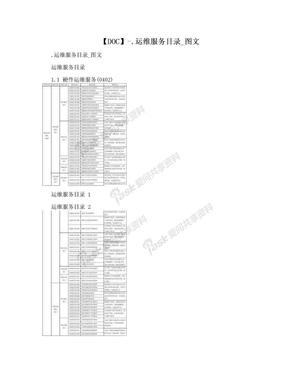 【DOC】-.运维服务目录_图文.doc