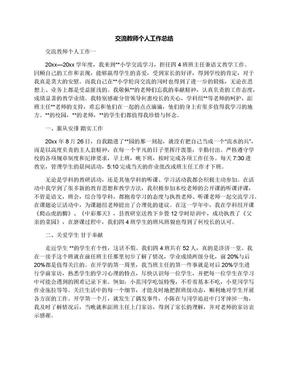 交流教师个人工作总结.docx