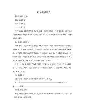机场实习报告.doc