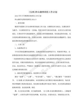 [宝典]梓山湖理科组工作计划.doc