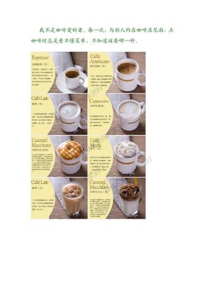 咖啡种类的图解.doc