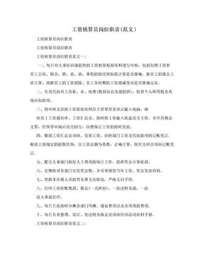工资核算员岗位职责(范文).doc