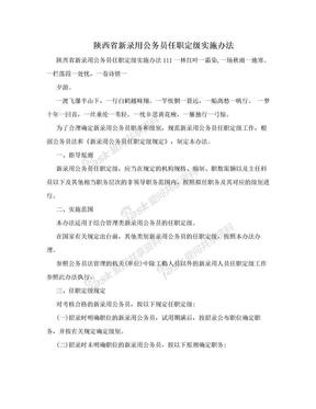 陕西省新录用公务员任职定级实施办法.doc
