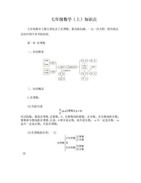 人教版2017初中数学知识点大全.doc
