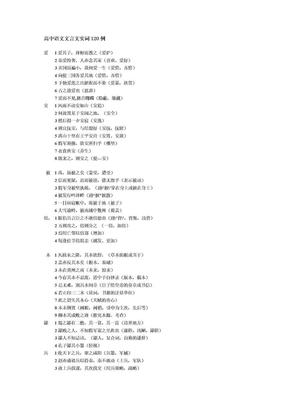 高中语文文言文实词120例.doc