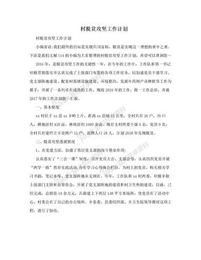 村脱贫攻坚工作计划.doc