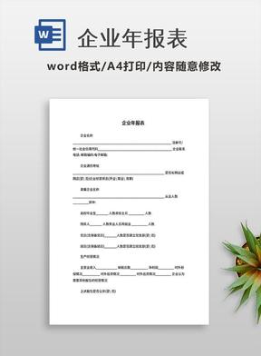 企业年报表.doc