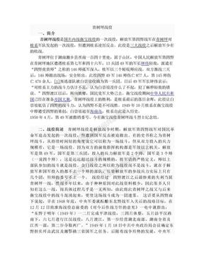 湖南 青树坪战役.doc