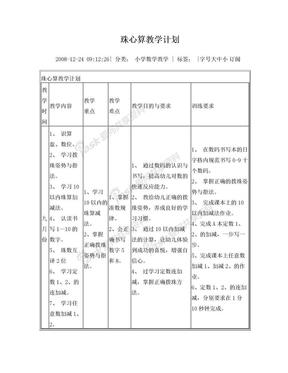 珠心算教学计划.doc