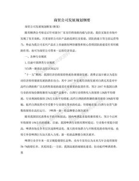 商贸公司发展规划纲要.doc