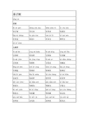 弟子规(全文,带拼音).doc