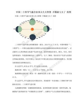 中国二十四节气蕴含农事人生大智慧 不懂就亏大了 组图.doc