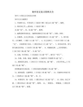 初中语文复习资料大全.doc