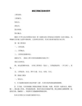 建设工程施工标准合同书.docx