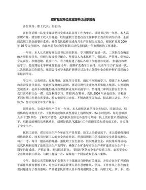 煤矿基层单位党支部书记述职报告.docx