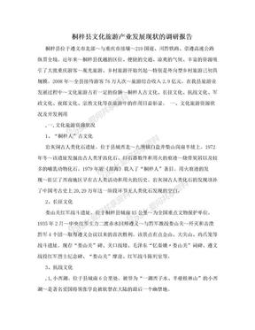 桐梓县文化旅游产业发展现状的调研报告.doc