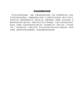 学生综合素质评价体系.docx