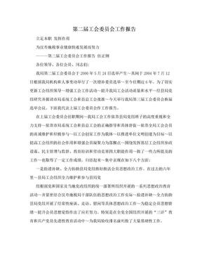 第二届工会委员会工作报告.doc