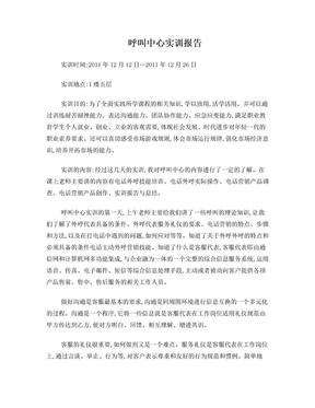 呼叫中心实习报告.doc