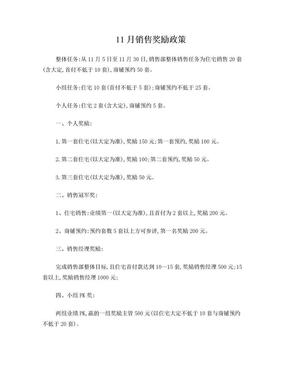 11月销售奖励政策.doc