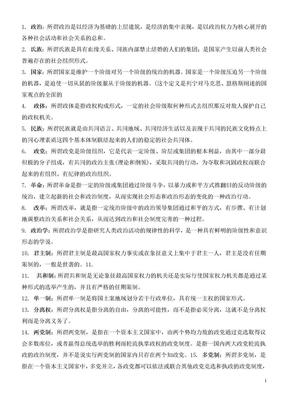 政治学概论名词解释汇总.doc