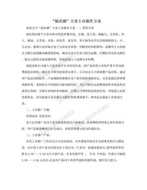 """""""镜泊湖""""大米上市操作方案.doc"""