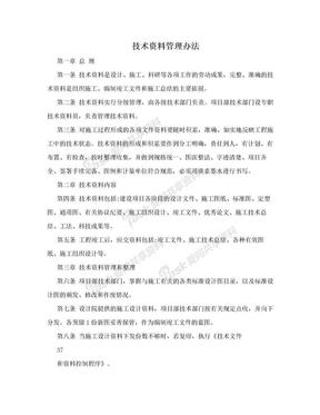 技术资料管理办法.doc