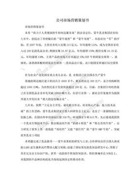 公司市场营销策划书.doc