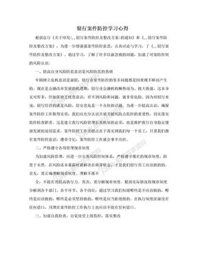 银行案件防控学习心得.doc