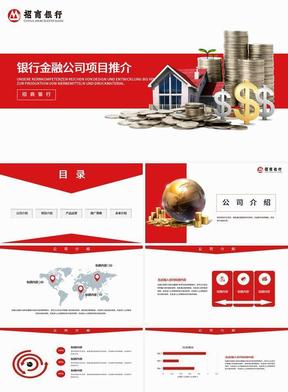 银行金融企业公司介绍产品推广PPT 018