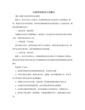行政单位财务自查报告.doc