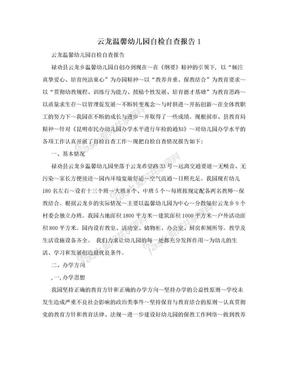 云龙温馨幼儿园自检自查报告1.doc
