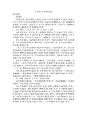 专业技术工作业绩总结.doc