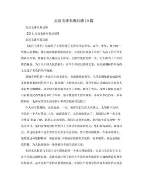 走近毛泽东观后感10篇.doc
