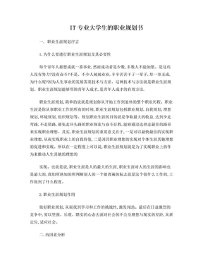 IT专业大学生的职业规划书.doc