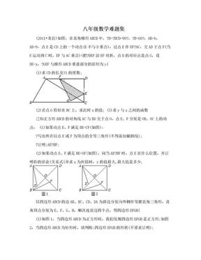 八年级数学难题集.doc