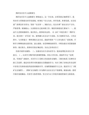 【DOC】-煤矿技术员个人述职报告.doc